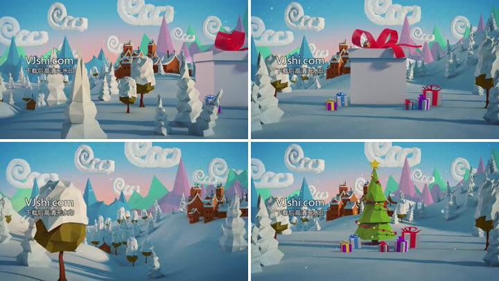 两款圣诞节礼物卡通视频