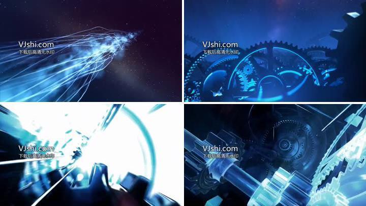 工业时代创造制造手表齿轮星空