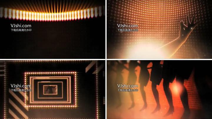 舞蹈音乐霓虹灯电子屏闪光