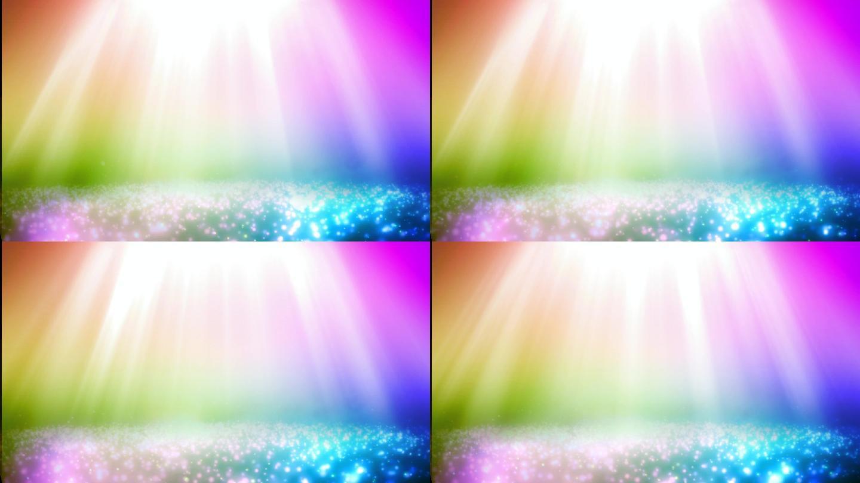 炫彩粒子光效背景