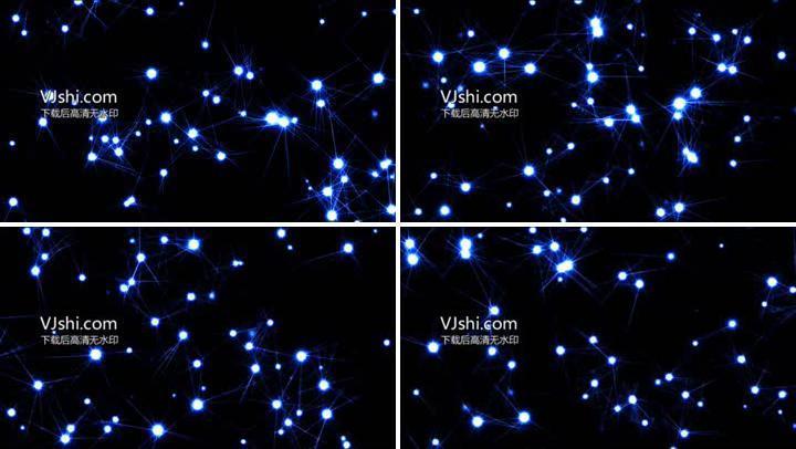 光点线条粒子闪烁