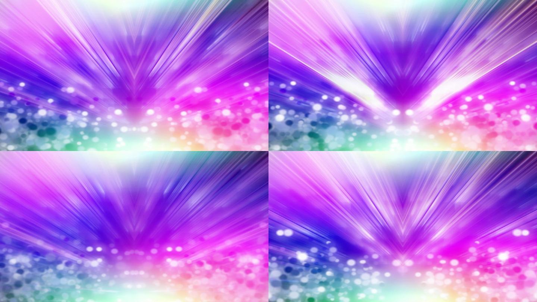 炫彩粒子光线