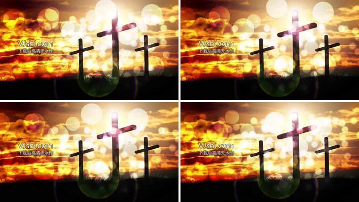 4K梦幻光斑十字架