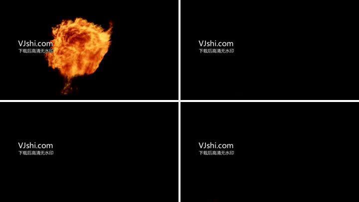 (推荐)2K高清8款火球似太阳爆炸素材
