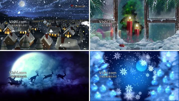 圣诞节晚会开场背景视频