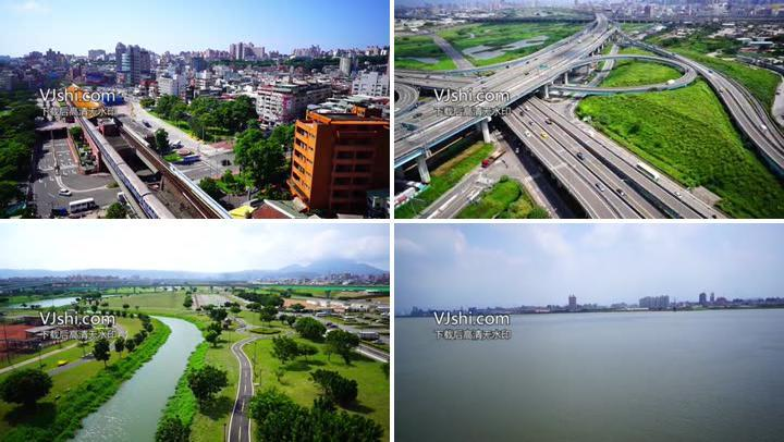 美丽的城市美景航拍