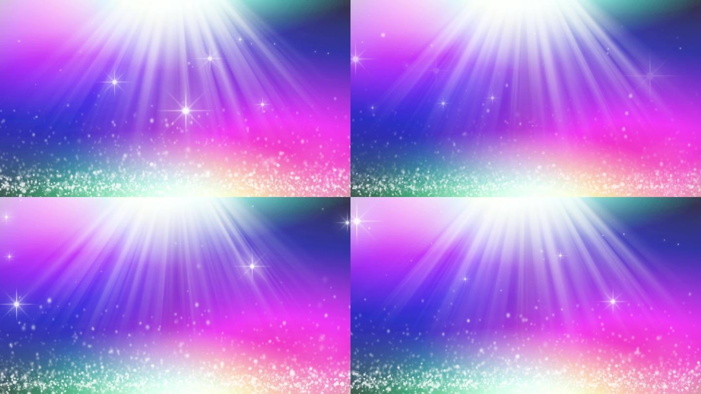唯美炫彩光线粒子