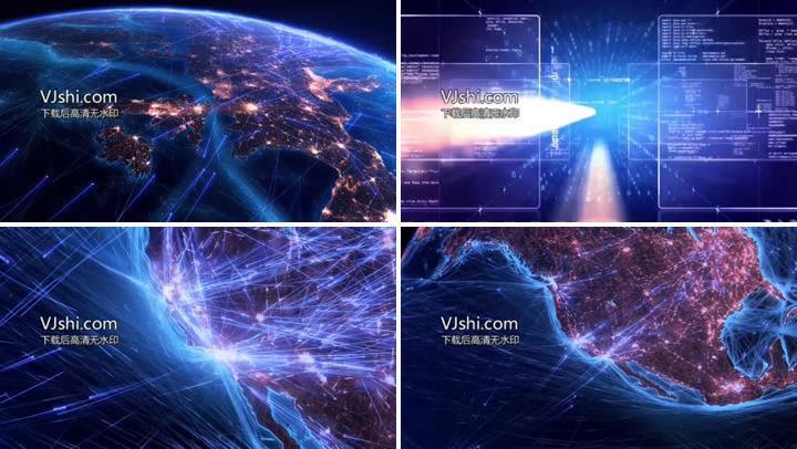 世界互联网现代化信息技术时代实拍高清视频