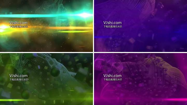 动感光效立方体球体粒子动画VJ素材