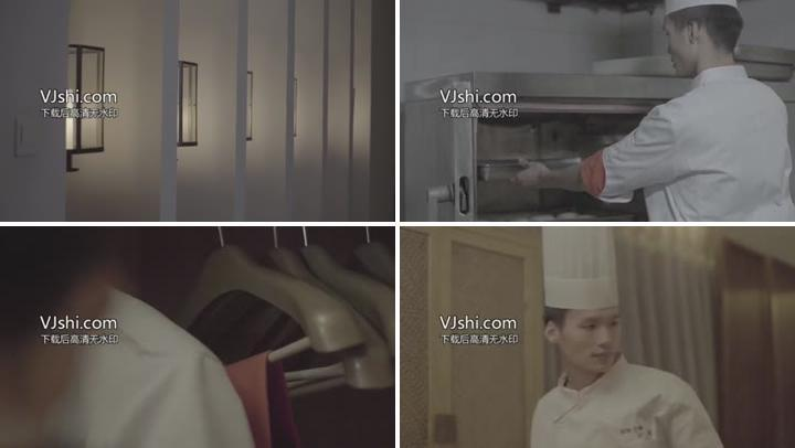 酒店及厨房空镜及后厨镜头