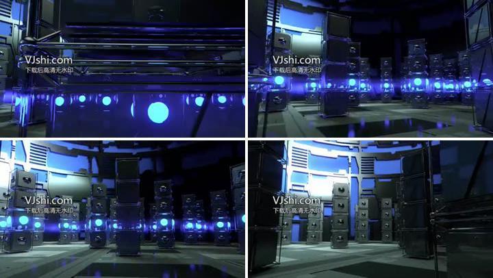 震撼动感灯光闪烁LED舞台视频