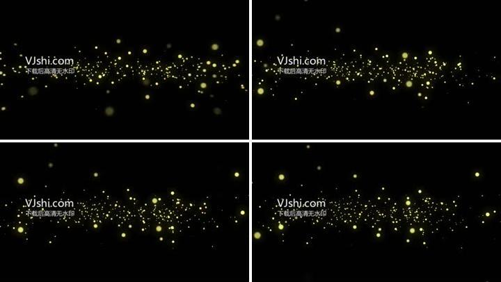 金色粒子视频