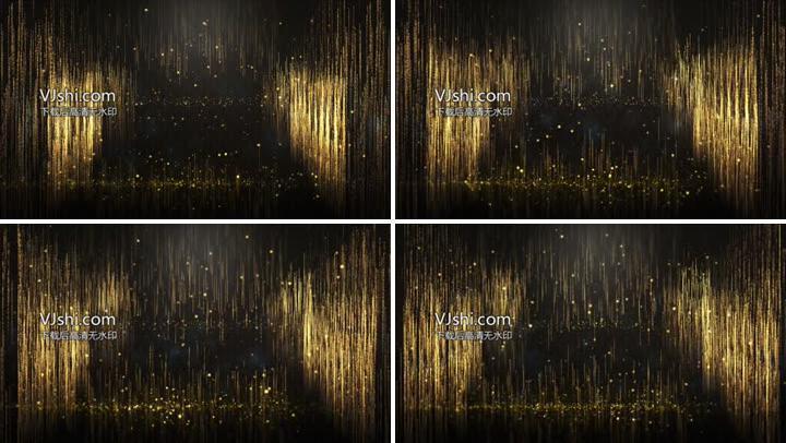 大气金色粒子流晚会年会视频背景素材