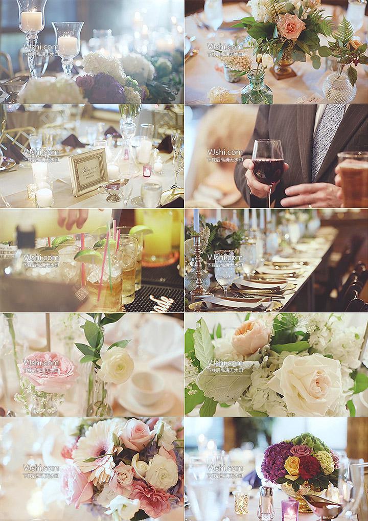 宴会party餐饮餐厅花束红酒杯