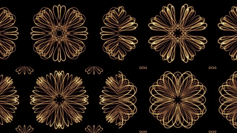 抽象光效花朵