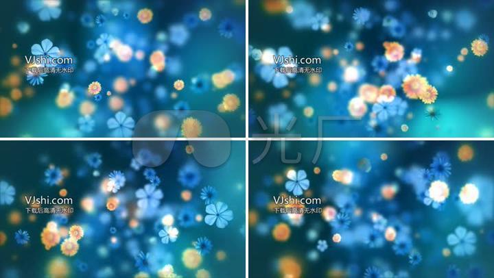 多种颜色小花朵屏幕散开LED舞台背景