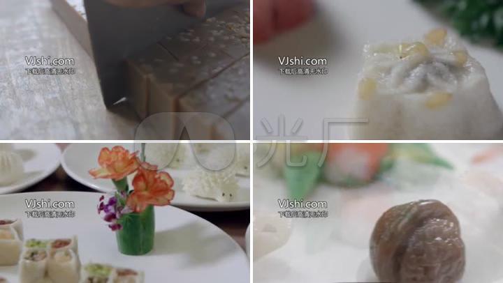 唯美苏式糕点展示美食城市宣传片
