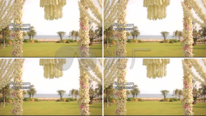 唯美婚礼花门视频素材