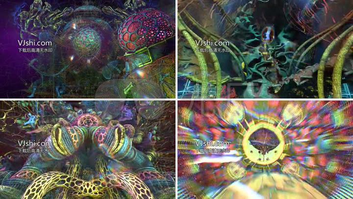 梦幻三维空间变幻舞台背景视频