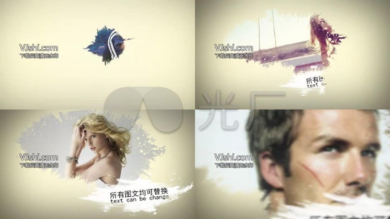PR模板—水墨复古中国风照片展示公司宣传