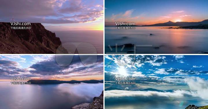 湖泊风景延时摄影