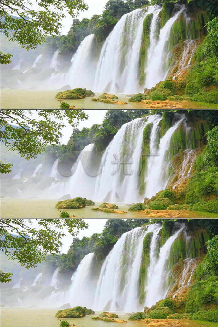 壮观瀑布风景实拍