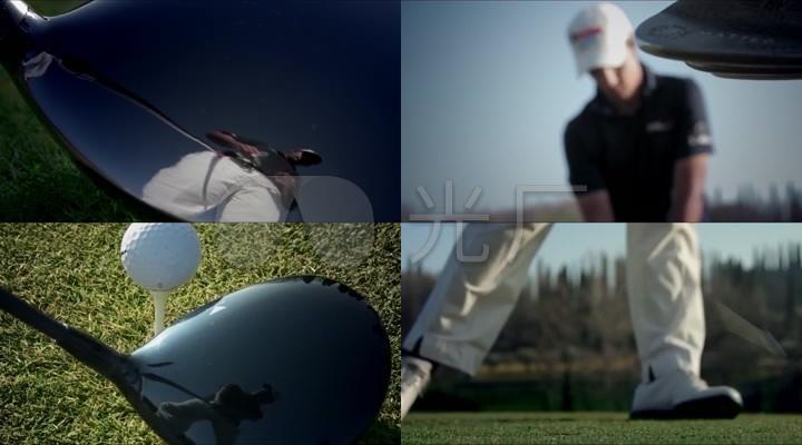 打高尔夫球视频素材高尔夫运动视频