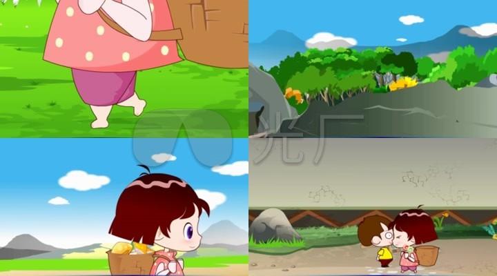 采蘑菇的小姑娘童声版动漫儿歌