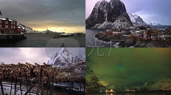 挪威罗弗敦群岛岛屿雪山延时摄影10432