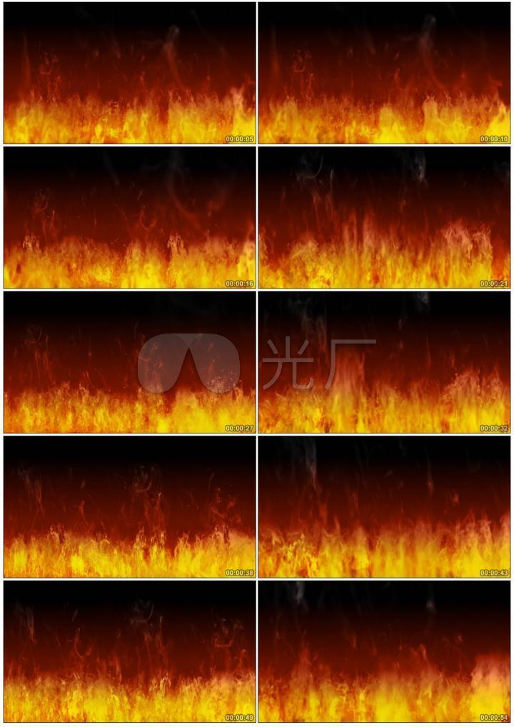 LOOP循环火焰LED背景视频素材