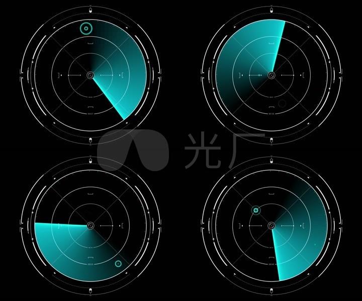 雷达扫描全息线条信息数据科技