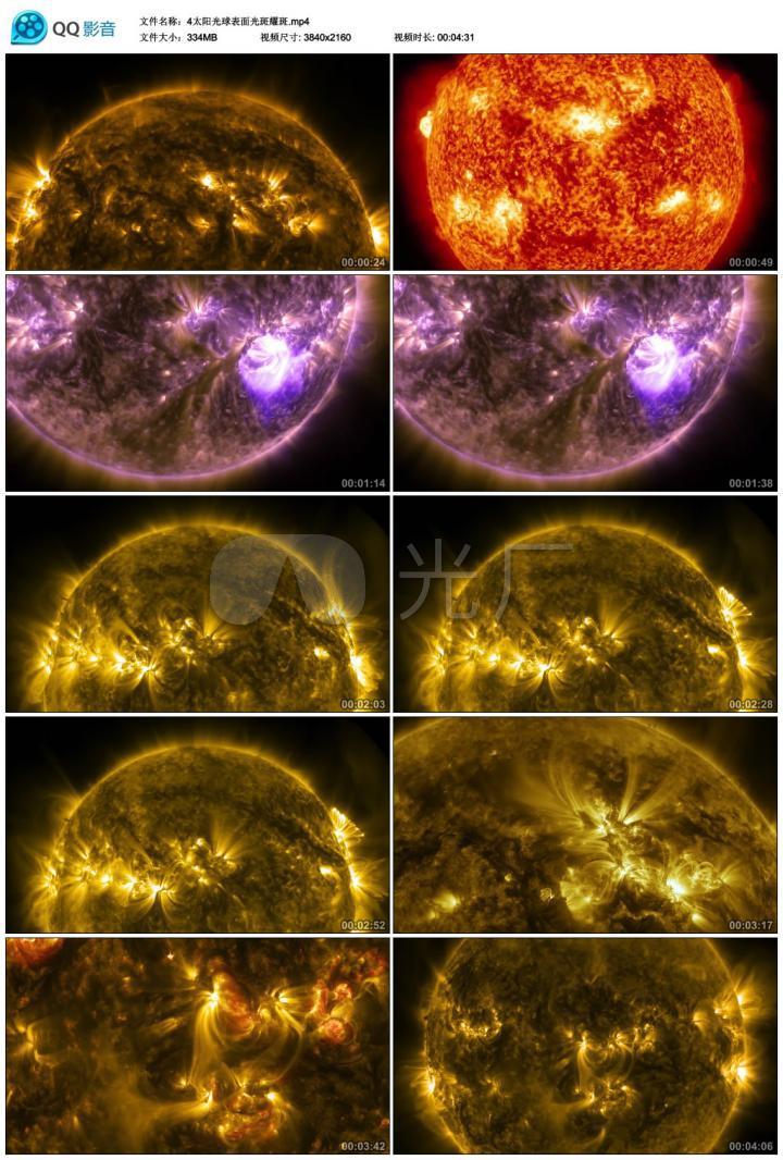 4太阳光球表面光斑耀斑