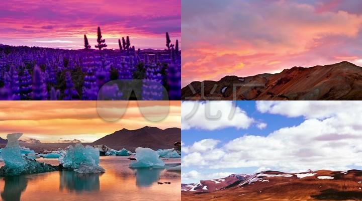 高清冰岛风景视频