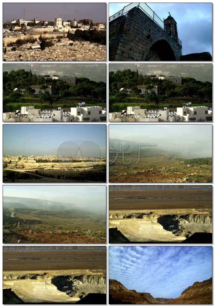 风景小镇峡谷4K高清视频