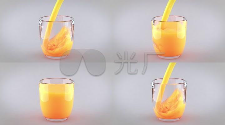 倒果汁-橙汁