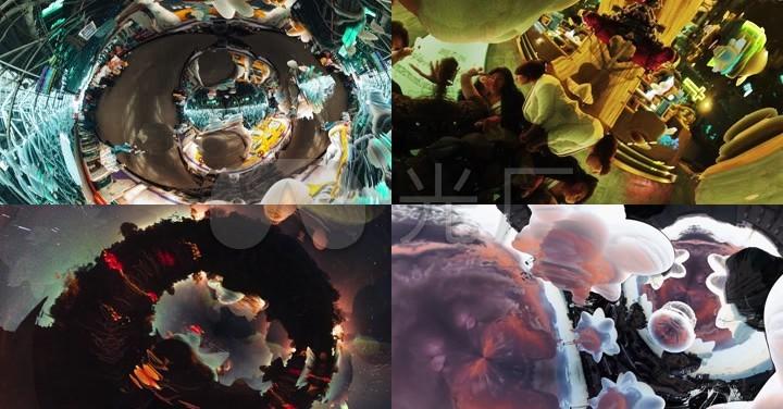 360度三维分形魔幻空间穿梭VJ素材