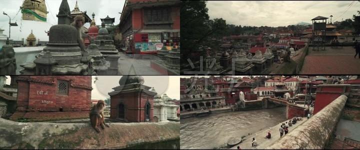 加德满都寺庙空镜