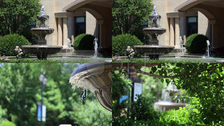 喷泉喷水一组