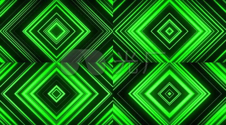 可循环的绿色平面方形背景