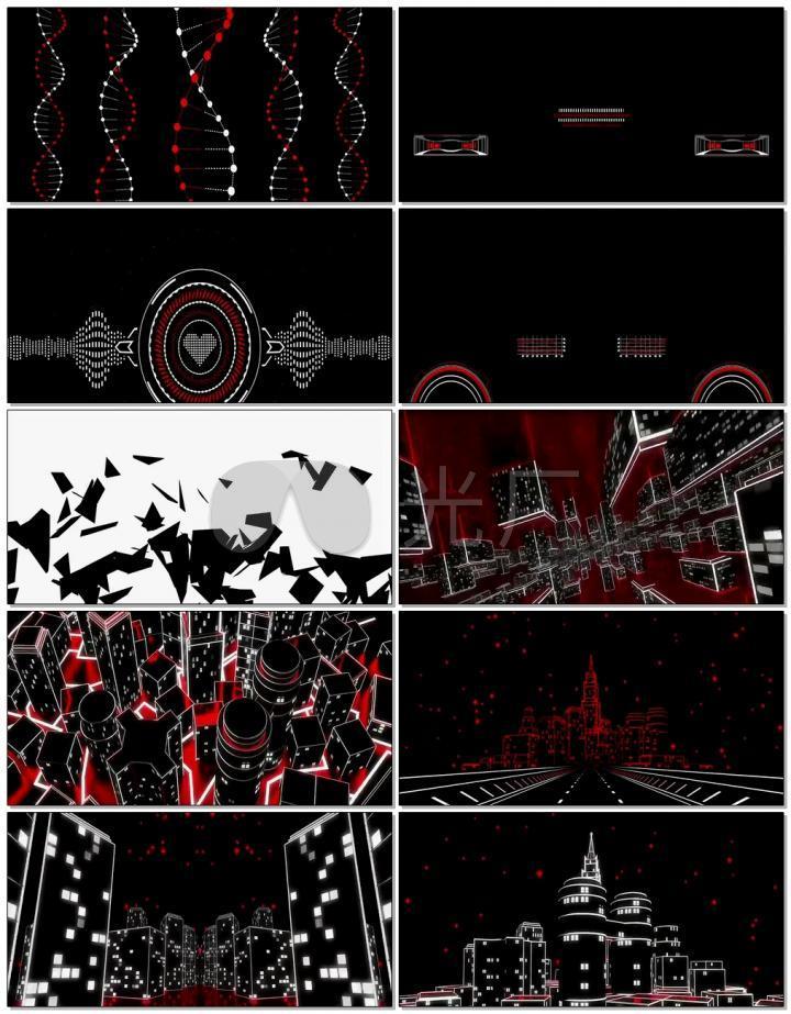 动感循环科技城市穿梭视频宣传片