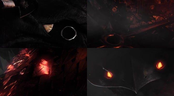 神兽开场动画荧光恐怖开场片头