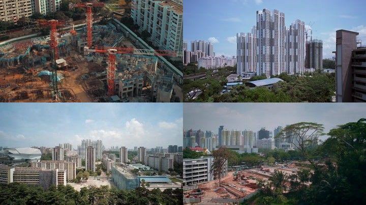 万丈高楼平地起建筑延时房地产项目建设大气