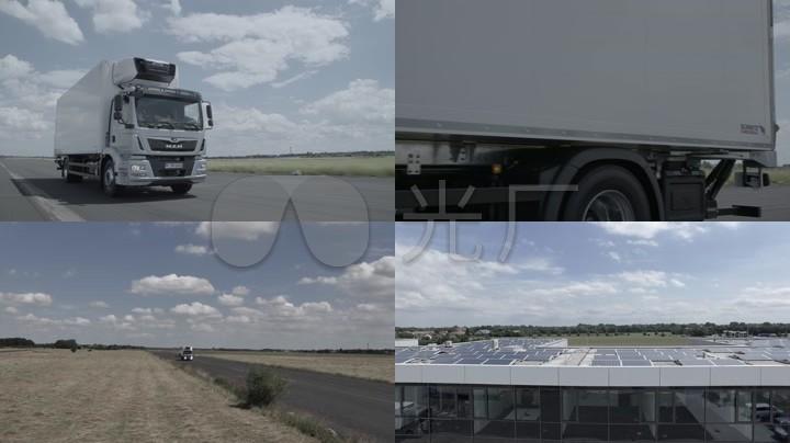 MAN高端卡车物流运输实拍素材