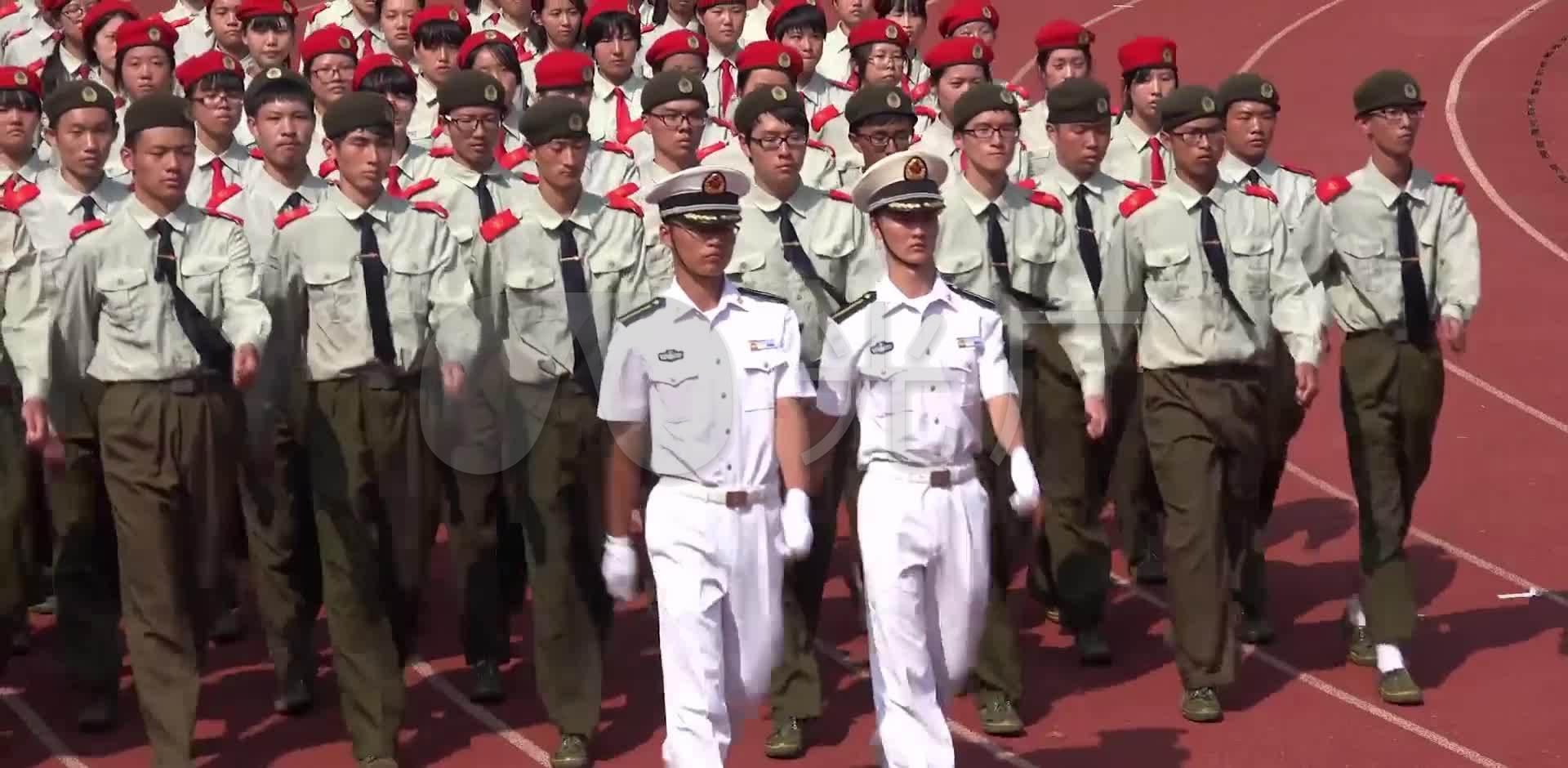 军训军队_1920X940_高清视频素材下载(编号