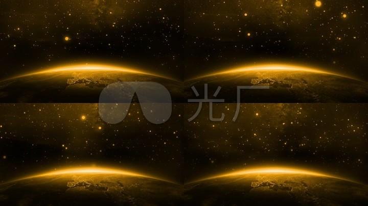 大气星球背景视频素材