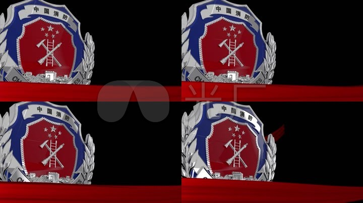 中国消防立体标志