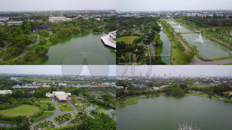 航拍曼谷城市人文视频