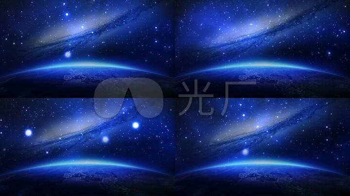 蓝色宇宙背景视频素材