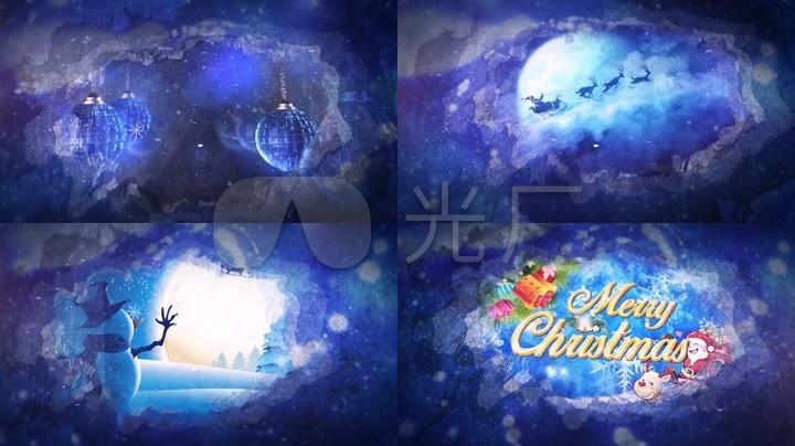 圣诞节活动开场背景