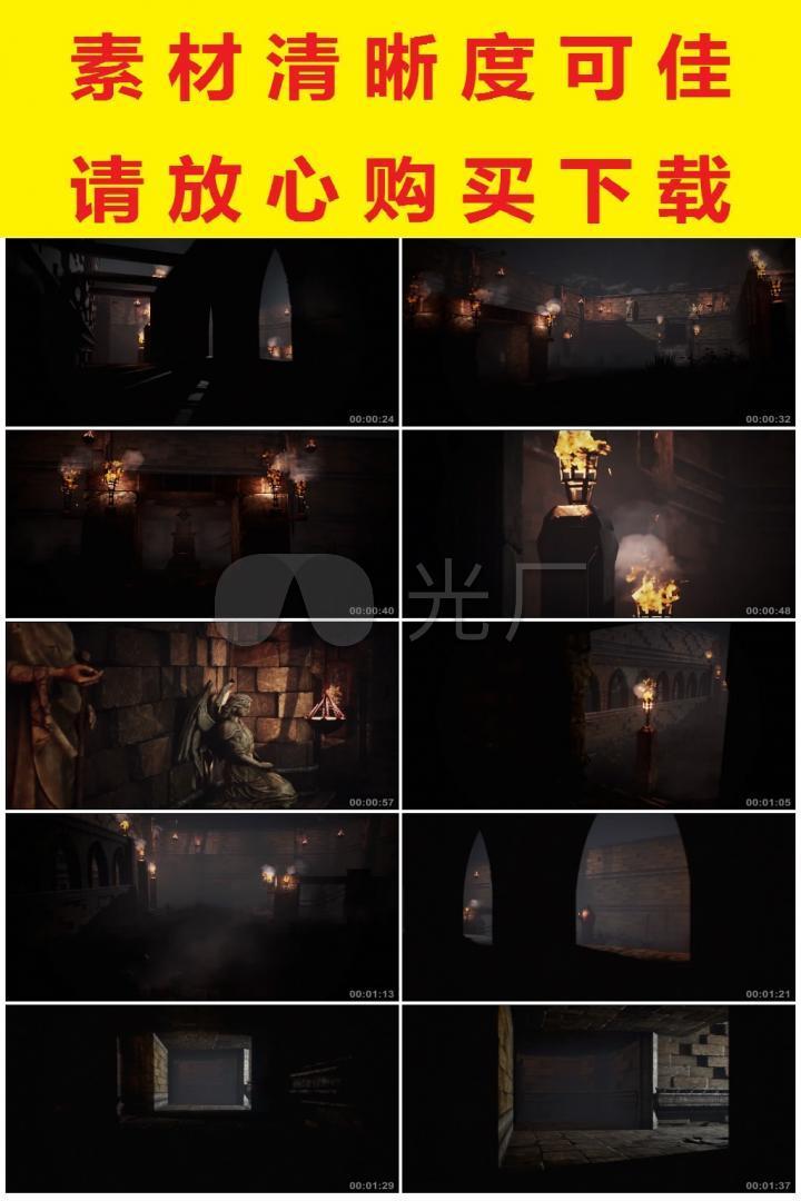 3D神秘阴森恐怖洞穴古墓穿梭漫游